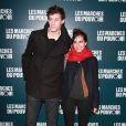 Jean-Baptiste Maunier et Joyce Jonathan à la projection du film de George Clooney Les Marches du pouvoir, à Paris. 18 octobre 2011