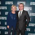 Catherine Ceylac et Claude Sérillon à la projection du film de George Clooney Les Marches du pouvoir, à Paris. 18 octobre 2011