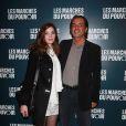 Christophe Barratier et Gwendoline à la projection du film de George Clooney Les Marches du pouvoir, à Paris. 18 octobre 2011