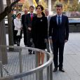 Vendredi 22 octobre 2011, au mémorial du 11 septembre à Ground Zero.   La princesse Mary et le prince Frederik de Danemark étaient en visite à New York du 20 au 25 octobre 2011 dans le cadre du centenaire de la Fondation Américano-Scandinave (ASF).