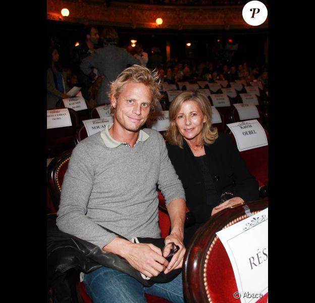 Arnaud Lemaire et Claire Chazal lors de l'avant-première du film La Source des femmes à Paris le 24 octobre 2011