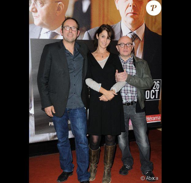 Olivier Gourmet, Zabou Breitman et Michel Blanc lors de l'avant-première de L'Exercice de l'Etat le 24 octobre 2011 à Paris