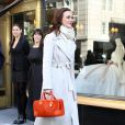 Leighton Meester tourne Gossip Girl à la boutique Vera Wang de New York le 28 octobre 2011