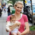 """Kelly Rutherford et sa fille Helena en août 2009 à New York"""
