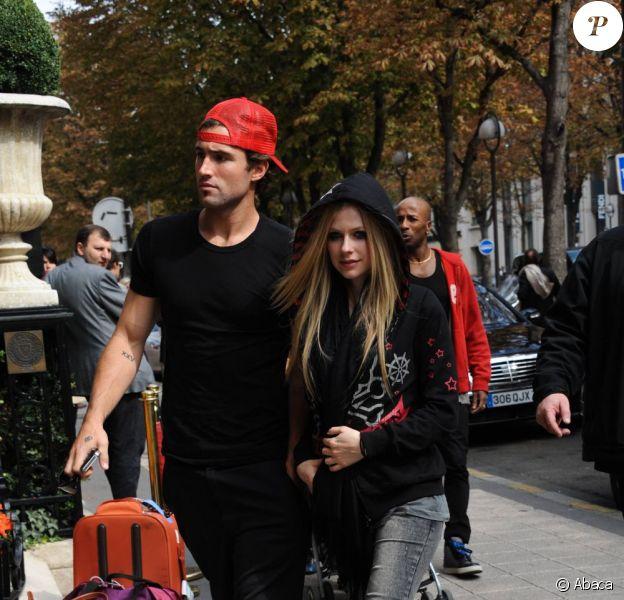 Avril Lavigne et son chéri Brody Jenner à Paris en septembre 2011
