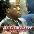 Capture d'écran de Conrad Murray lors du verdict énoncé le 7 novembre 2011 à Los Angeles. Il a été reconnu coupable d'homicide involontaire.