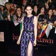 Kristen Stewart lors du lancement du nouveau volet de la saga Twilight, à Los Angeles, le 14 novembre 2011.