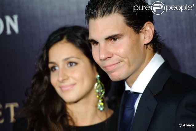 Rafael Nadal et sa compagne Xisca le 17 novembre 2011 à Londres