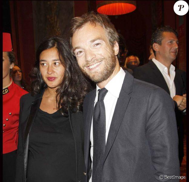 Jonathan Lambert et sa femme Laureen, à Deauville, le 2 septembre 2011.