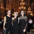 La Baronne Ariane de Rothschild, Hedva Ser Salomon et madame Sidney Toledano à l'Opéra Garnier, à Paris, le 22 novembre 2011.