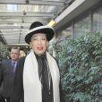 Geneviève de Fontenay quitte, émue, ses 29 Miss à quelques jours de l'élection de Miss Prestige National 2012, à l'hôtel Hilton Arc-de-Triomphe à Paris, le samedi 26 novembre 2011.