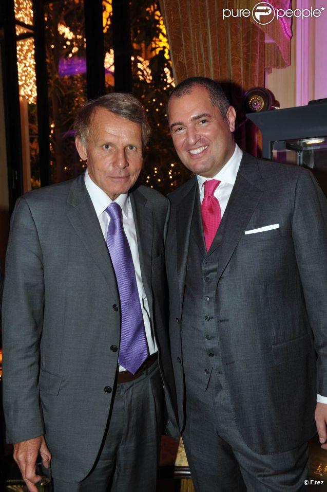 PPDA et Henri J. Sillam lors du lancement de la collection de bijoux   Zawoom, à l'Hôtel Georges V, à Paris. Novembre 2011