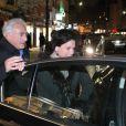 Dominique Strauss-Kahn et Anne Sinclair célèbrent leur 20e anniversaire de mariage en allant voir  Intouchables  au cinéma, à Paris, le 26 novembre 2011.