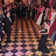 Belle ambiance lors du Bal des débutantes le 26 novembre 2011 à l'Hôtel de Crillon à Paris. Tallulah Willis a ouvert le bal avec son père Bruce