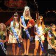 Le podium lors de l'élection de Miss Petite de France 2012 au Cirque de Diana Moreno, le 11 décembre 2011