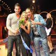 Zelko et Rudy de Secret Story 5 avec la gagnante lors de l'élection de Miss Petite de France 2012 au Cirque de Diana Moreno, le 11 décembre 2011