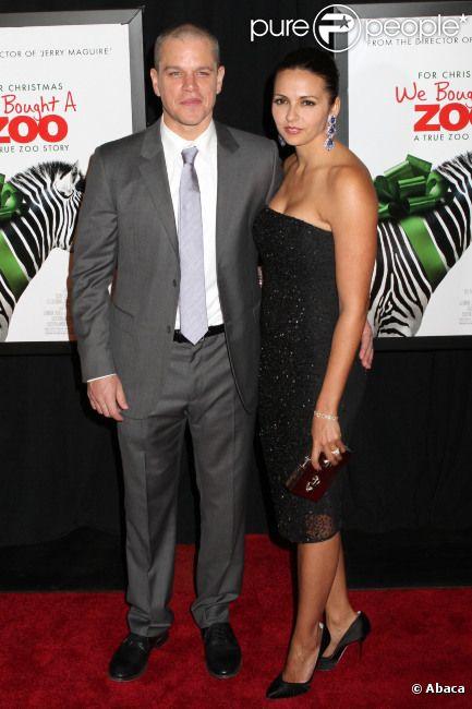 Matt Damon et sa femme Luciana lors de l'avant-première du film We Bought a Zoo à New York le 12 décembre 2011