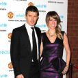 """Michael Carrrick et sa femme Lisa lors du gala """"United for Unicef"""" le 12 décembre 2011 à Old Trafford à Manchester"""