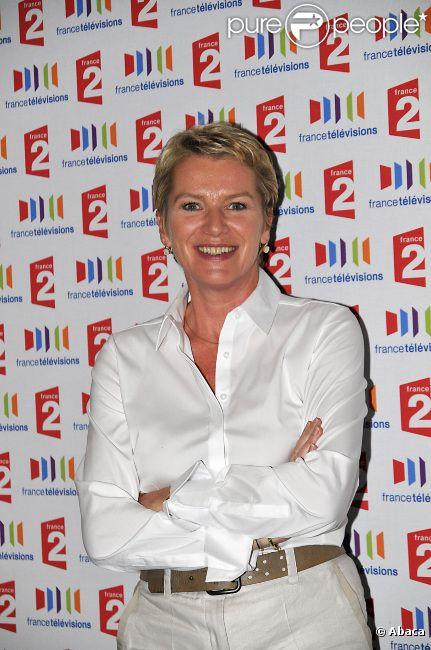 Elise Lucet à la conférence de rentrée de France Télévisions, en septembre 2011 à Paris.
