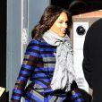 Alicia Keys en bleu à New York le 8 décembre 2011