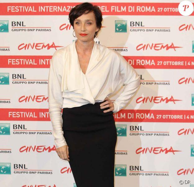 Kristin Scott Thomas à Rome, le 30 octobre 2011.