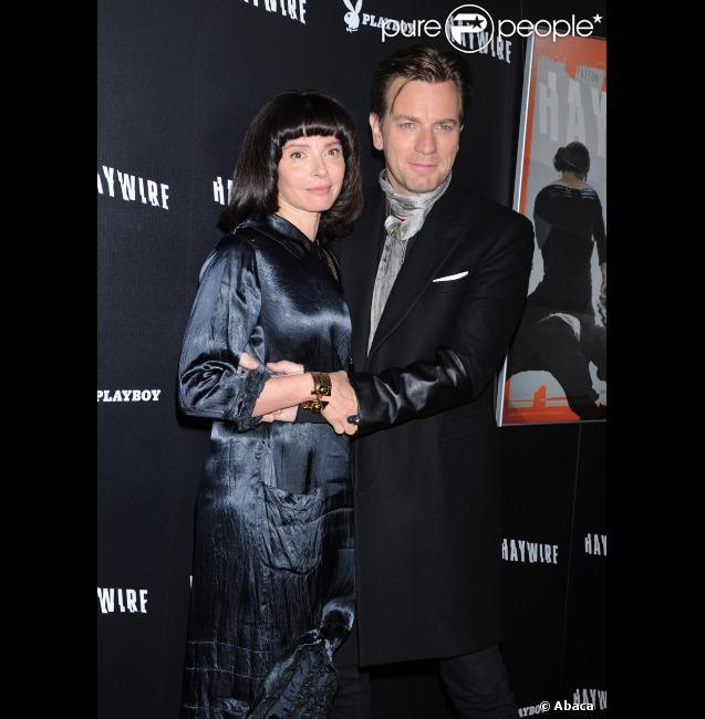 Ewan McGregor et sa femme Eve Mavrakis à l'avant-première de Haywire, le 5 janvier 2012 à Los Angeles.