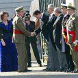 Le roi Juan Carlos et la reine Sofia, ainsi que le prince Felipe et la princesse Letizia,  célébraient le 6 janvier 2012, jour de l'épiphanie, la Pâque militaire  célébrant la récupération de l'île de Minorque au XVIIIe siècle, au  palais royal, à Madrid.