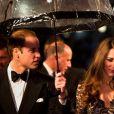 Le duc et la duchesse de Cambridge lors de l'avant-première du film Cheval de Guerre à Londres le 8 janvier 2012