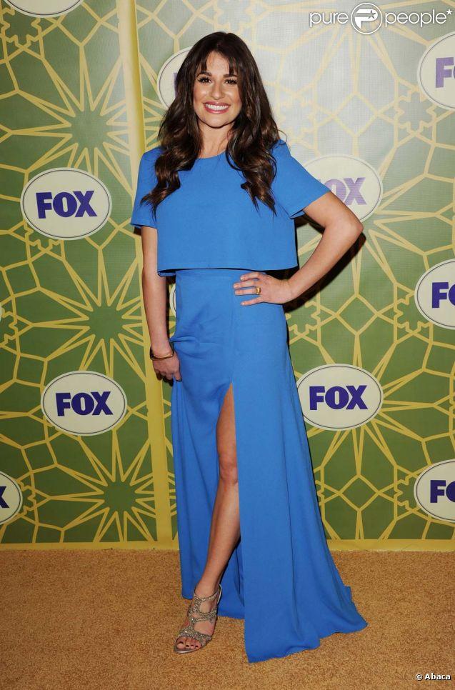 Lea Michele à la soirée All-Star d'hiver de la Fox, à Pasadena, le 8 janvier 2012.