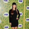 Hannah Simone de  Glee  à la soirée All-Star d'hiver de la Fox, à Pasadena, le 8 janvier 2012.