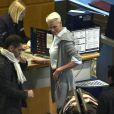 Brigitte Nielsen quitte le Danemark, où elle a enregistré l'émission Masterchef, pour l'Australie, le 5 janvier 2012