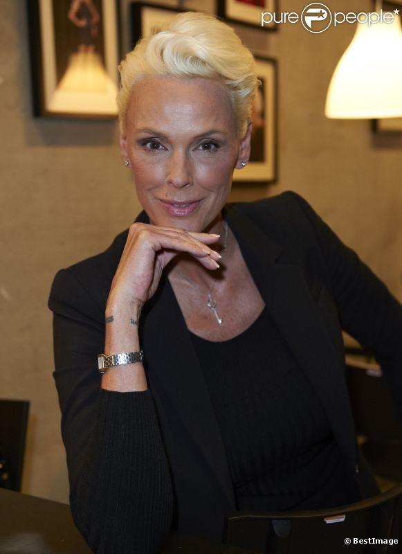 La jolie Brigitte Nielsen a Copenhague pour le tournage de Masterchef, le 3 janvier 2012