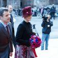 Le prince Frederik et la princesse Mary arrivent à Amalienborg pour la conférence de presse de la reine Maregrethe II à l'occasion du jubilé de ses 40 ans de règne, le 10 janvier 2012.