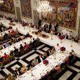 La reine Margrethe II de Danemark était honorée dimanche 15 janvier 2012 par un dîner au palais Frederik VIII à Amalienborg, en point d'orgue des célébrations de son jubilé de rubis, marquant 40 ans de règne.