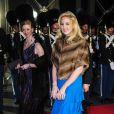 La princesse Theodora de Grèce et Danemark. Dîner de gala à la salle de concert de Copenhague dans le cadre du jubilé des 40 ans de règne de la reine Margrethe II, samedi 14 janvier 2012. 1500 convives de marque étaient invités.