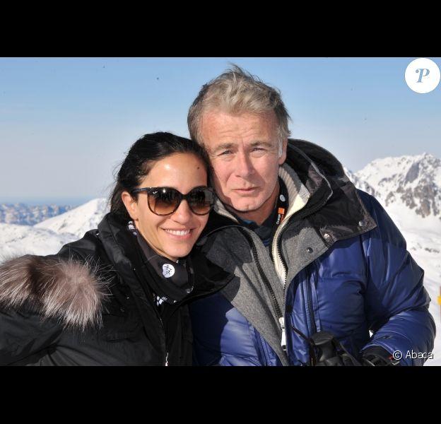 Franck Dubosc et sa femme Danièle au festival de l'Alpe d'Huez le 18 janvier 2012