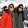 Christelle Raynal et Louise Monot au festival de l'Alpe d'Huez le 18 janvier 2012