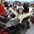 Audrey Lamy au festival de l'Alpe d'Huez le 18 janvier 2012