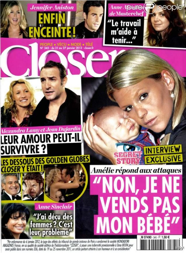 Closer en kiosques le 21 janvier 2012