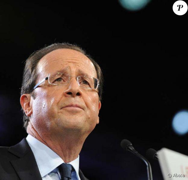 François Hollande au Bourget, le 22 janvier 2012.