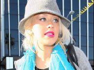 PHOTOS : Christina Aguilera opte pour le turquoise !