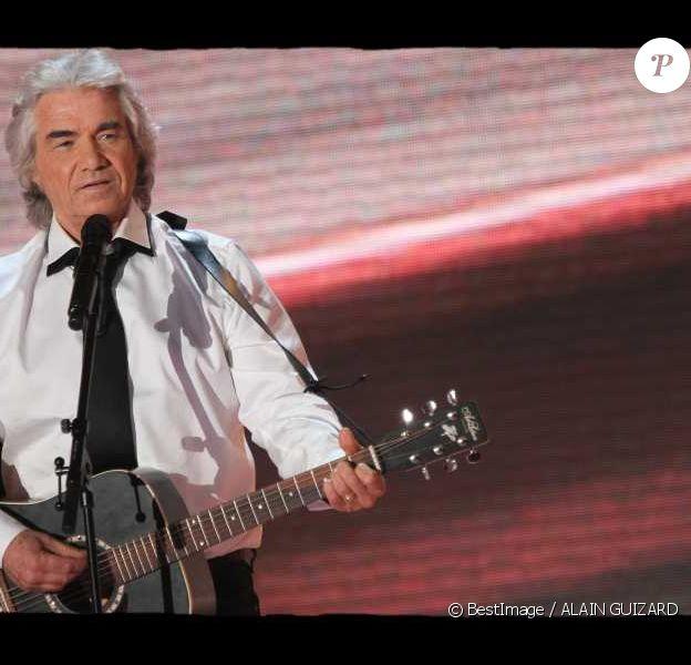 Daniel Guichard lors de l'enregistrement de l'émission Vivement Dimanche, diffusée dimanche 29 janvier 2012 sur France 2