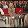 Amanda Lear lors de l'enregistrement de l'émission Vivement Dimanche, diffusée dimanche 29 janvier 2012 sur France 2