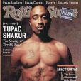 Tupac Shakur et son tatouage Thug Life, en couverture du magazine Rolling Stone du 31 octobre 1996.