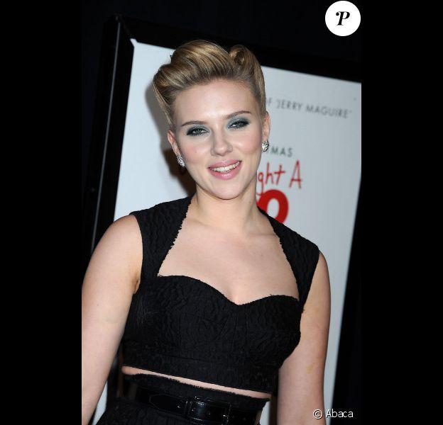 Scarlett Johansson en décembre 2011 à New York
