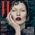 Kate Moss montre un double visage pour le magazine W.