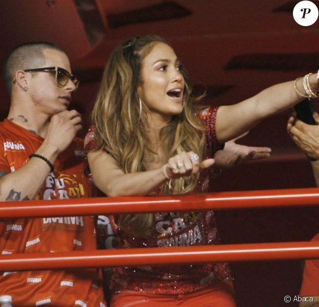 Jennifer Lopez et son amoureux Casper Smart profitent du Carnaval de Rio au Brésil. Le 19 février 2012
