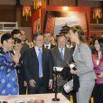 L'infante Elena d'Espagne, mercredi 22 février 2012, inaugurait la 20e édition de Aula, Salon international de l'étudiant et de l'offre éducative.