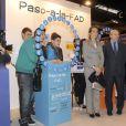 Elena d'Espagne inaugurait le mercredi 22 février 2012 la 20e édition de Aula, Salon international de l'étudiant et de l'offre éducative.