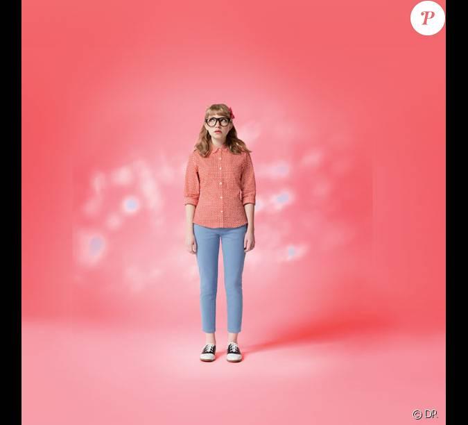la blogueuse am ricaine de 15 ans tavi gevinson pose pour uniqlo. Black Bedroom Furniture Sets. Home Design Ideas